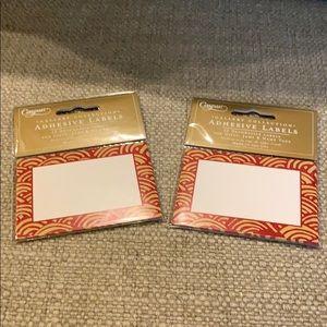 24 Caspari Lulu's Rainbow Red Adhesive Labels